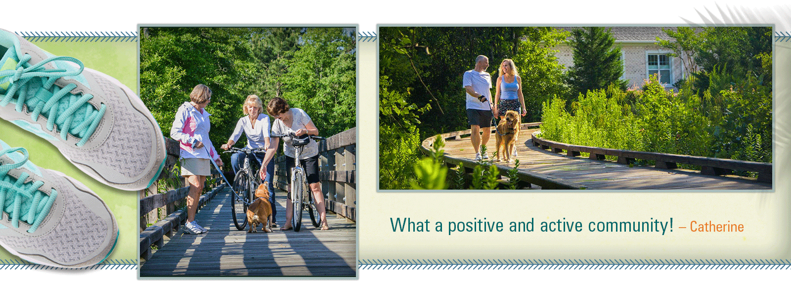 Walking and Biking Trails at Compass Pointe, Leland, NC